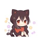 黒猫少女(個別スタンプ:23)