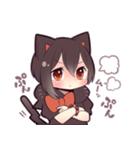 黒猫少女(個別スタンプ:24)