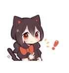 黒猫少女(個別スタンプ:25)