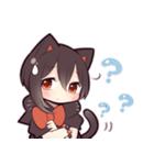 黒猫少女(個別スタンプ:26)
