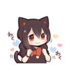 黒猫少女(個別スタンプ:31)