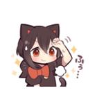 黒猫少女(個別スタンプ:36)