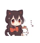 黒猫少女(個別スタンプ:37)