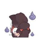 黒猫少女(個別スタンプ:38)
