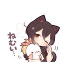 黒猫少女(個別スタンプ:39)