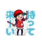 動く!頭文字「き」女子専用/100%広島女子(個別スタンプ:14)