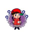 動く!頭文字「き」女子専用/100%広島女子(個別スタンプ:18)