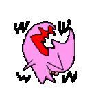 ドットキャラクターズ ピンクシャドウ(個別スタンプ:05)