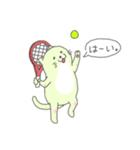 太っちょ猫、テニスをする(個別スタンプ:01)