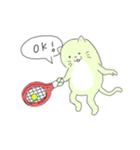太っちょ猫、テニスをする(個別スタンプ:02)