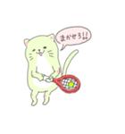太っちょ猫、テニスをする(個別スタンプ:04)