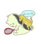 太っちょ猫、テニスをする(個別スタンプ:08)
