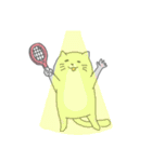 太っちょ猫、テニスをする(個別スタンプ:22)