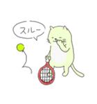 太っちょ猫、テニスをする(個別スタンプ:24)
