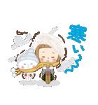 前髪短めな女の子の[冬のことば](個別スタンプ:03)