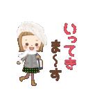 前髪短めな女の子の[冬のことば](個別スタンプ:13)