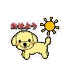 動くトイプーのみるくちゃん[Part 2](個別スタンプ:03)