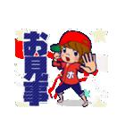 動く!頭文字「ほ」女子専用/100%広島女子(個別スタンプ:12)