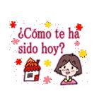 ♥使うとレースが現れるよ♥スペイン語挨拶(個別スタンプ:40)