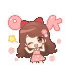 ♥甘めガーリー♥ダリア♥毎日つかえる言葉(個別スタンプ:01)
