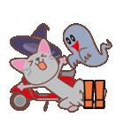 ハロウィンに使える〜ニャンコとスクーター(個別スタンプ:02)