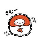 まるもっち【冬】(個別スタンプ:01)