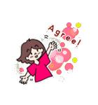 かわいい女子のあいさつ集(英語版)(個別スタンプ:32)