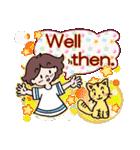 かわいい女子のあいさつ集(英語版)(個別スタンプ:33)