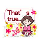 かわいい女子のあいさつ集(英語版)(個別スタンプ:34)