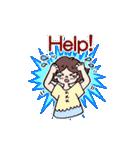 かわいい女子のあいさつ集(英語版)(個別スタンプ:36)
