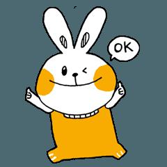 [LINEスタンプ] オレンジのうさぎさん