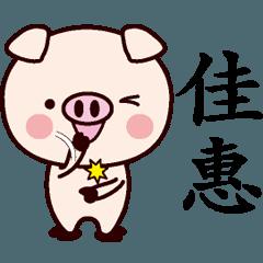 佳惠専用名前スタンプ中国語版