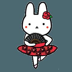 [LINEスタンプ] うさぎのうんとんたん6(バレリーナ)