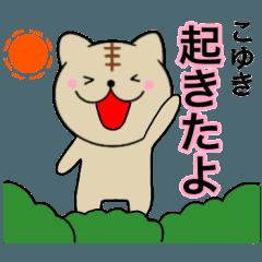 【こゆき】が使う主婦が作ったデカ文字猫2