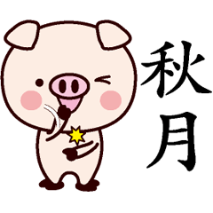 秋月専用名前スタンプ中国語版