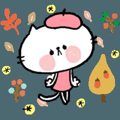 【neco】秋のスタンプ