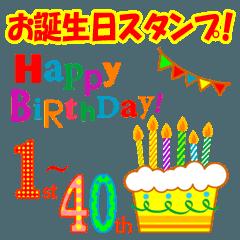 1歳~40歳★お誕生日ケーキ★毎年使える★