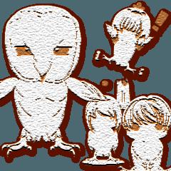 ゆるふわ白フクロウちゃんクッキーアレンジ