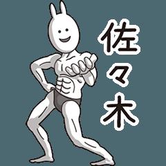 【佐々木】動く筋肉うさぎ
