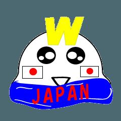 グマ王のかわいいサッカー日本代表スタンプ