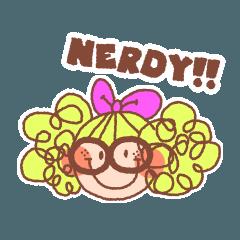 Nerdyちゃんのキュートスラングスタンプ
