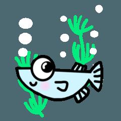 水辺の生き物シリーズ(めだか)
