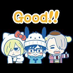 [LINEスタンプ] ユーリ!!! on ICE×サンリオキャラクターズ