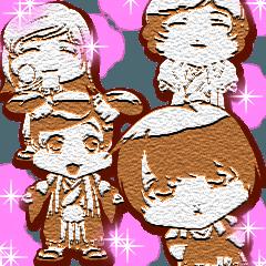 キュートな袴ベイビーちゃんクッキー