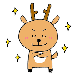 [LINEスタンプ] 鹿ジロー (1)