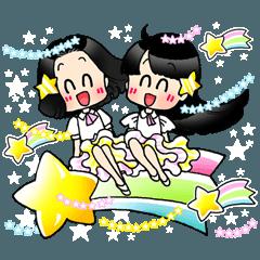 [LINEスタンプ] (星)きらきらガール