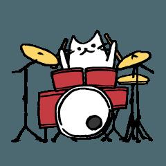 ドラマーのためのドラムねこスタンプ
