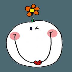 simple cute smile sticker