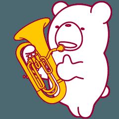 クマなのにユーフォニアム吹きます。