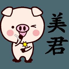 美君専用名前スタンプ中国語版